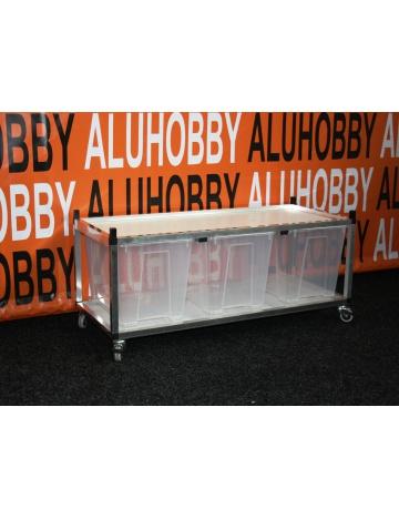 Rack Aluhobby K4 - strop sito (dno a poschodie, vrátane debien)