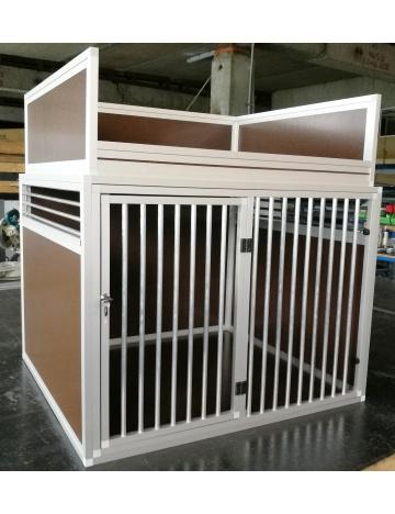 Veľký prepravný box pre psov s odkladacou ohrádkou