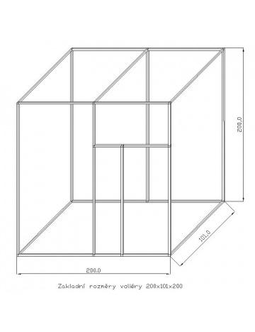 Stavebnice KV01/3, bez krmných pultů