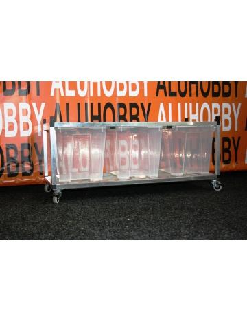 Rack Aluhobby K5 - strop sito (dno a poschodie vrátane debien)