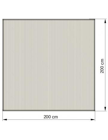 Hliníkový rám s výplní 04 - polykarbonát 16mm