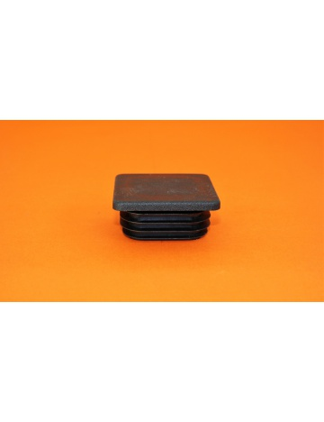 Zátka čierna pre profily, 60x60x4mm