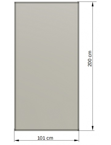 Hliníkový rám s výplní 05 - polykarbonát 16mm