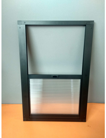 Výletové okno 60x40cm - 10mm, čierne