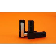 Plastové spojky pre profil 20x20, kovové jadro