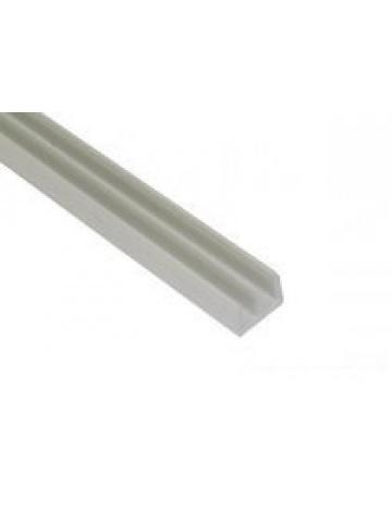 Terárijná plastová vodiaca lišta hornej, biela