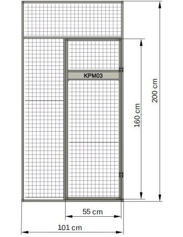 Predná stena - kŕmny pult v dvierkach voliéry 01