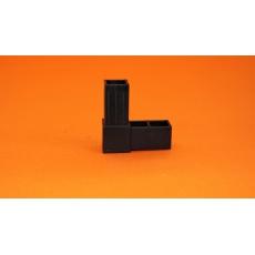 Plastové spojky pre profil 25x25, čierne